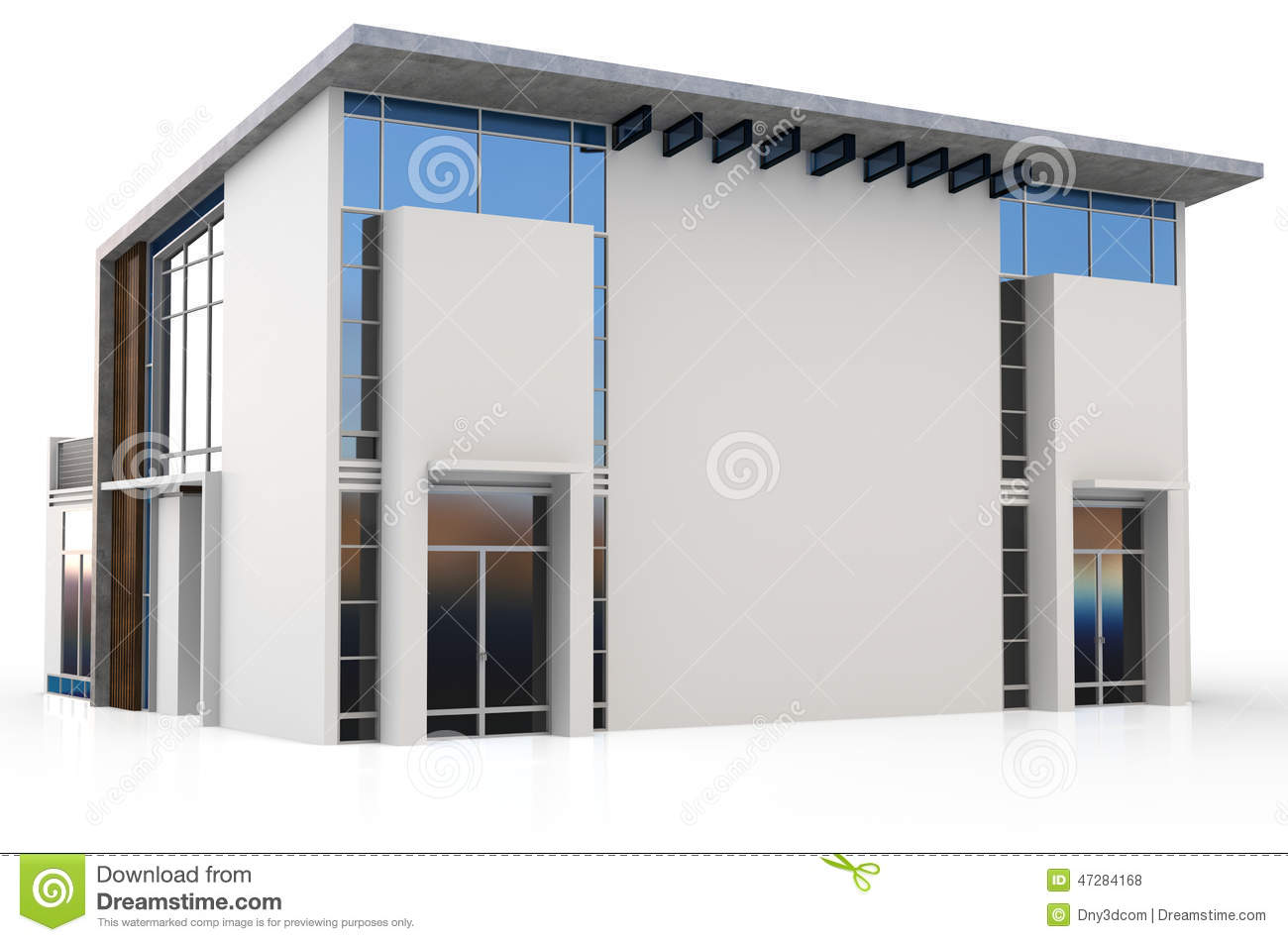 Maison 3d duplex moderne illustration stock image 47284168 for Maison duplex moderne