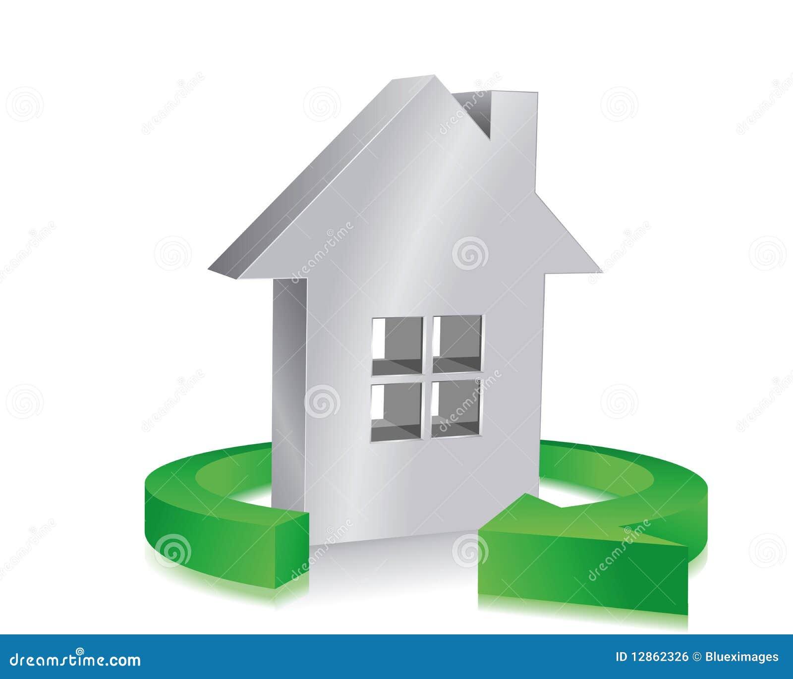 maison d 39 eco image libre de droits image 12862326. Black Bedroom Furniture Sets. Home Design Ideas