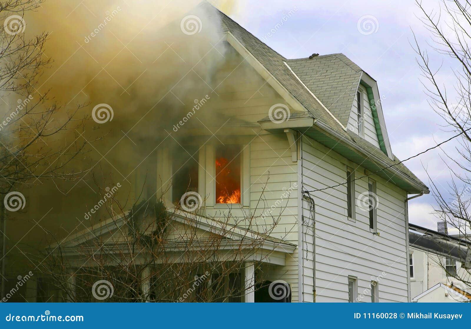 Maison d incendie