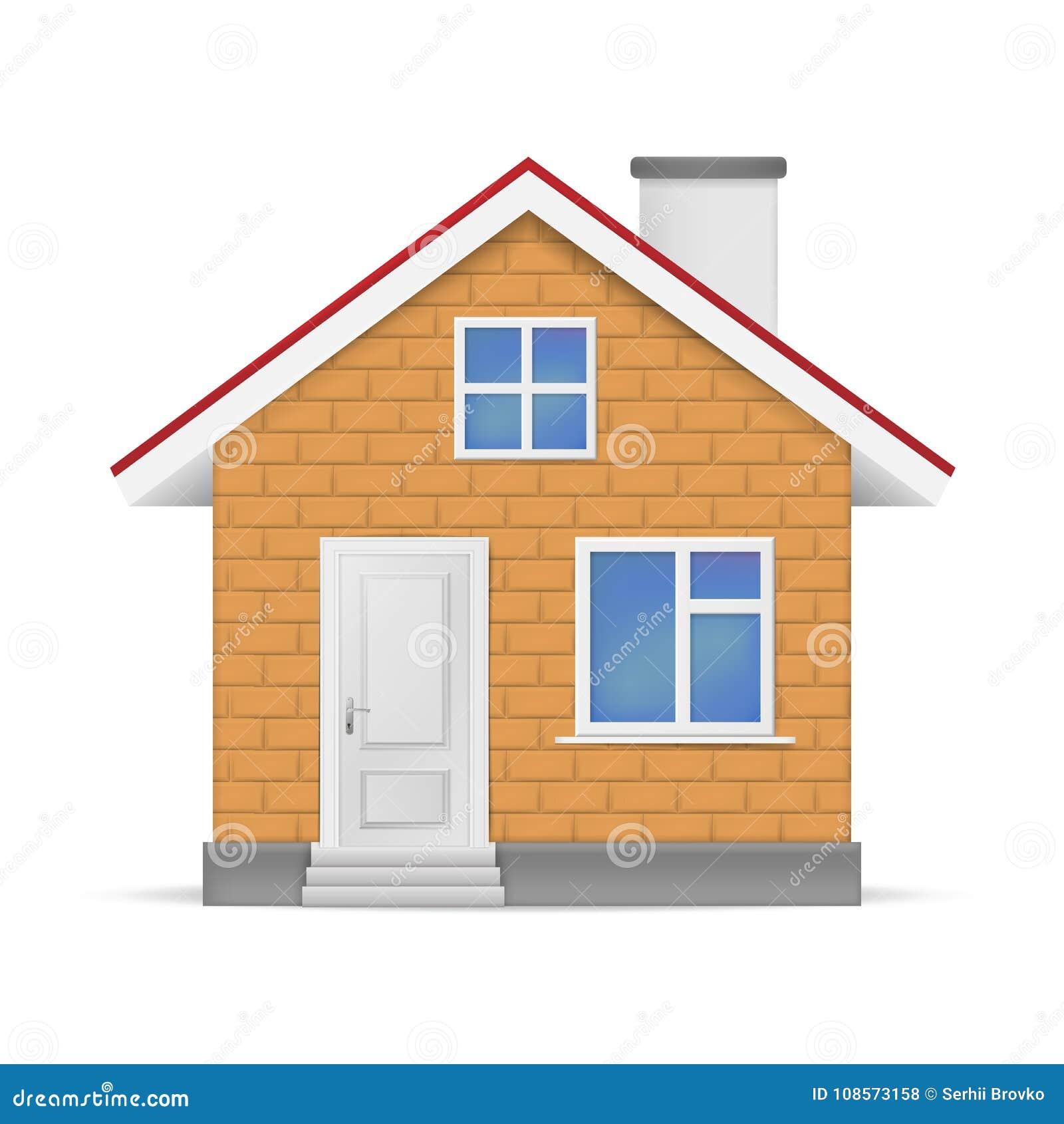 Maison 3D Réaliste D\'isolement Sur Le Fond Blanc ...