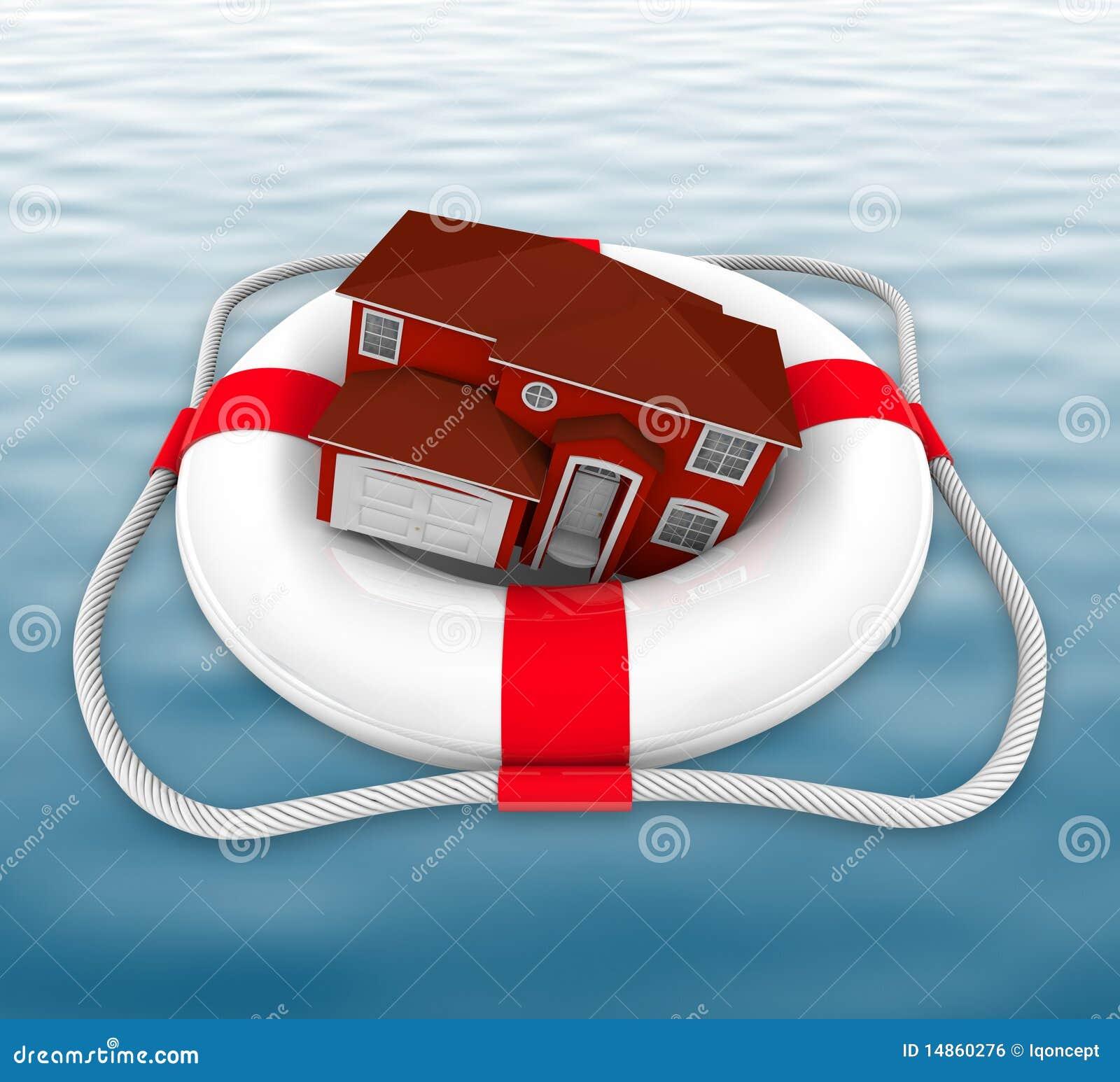 Maison dans le conservateur de durée sur l eau