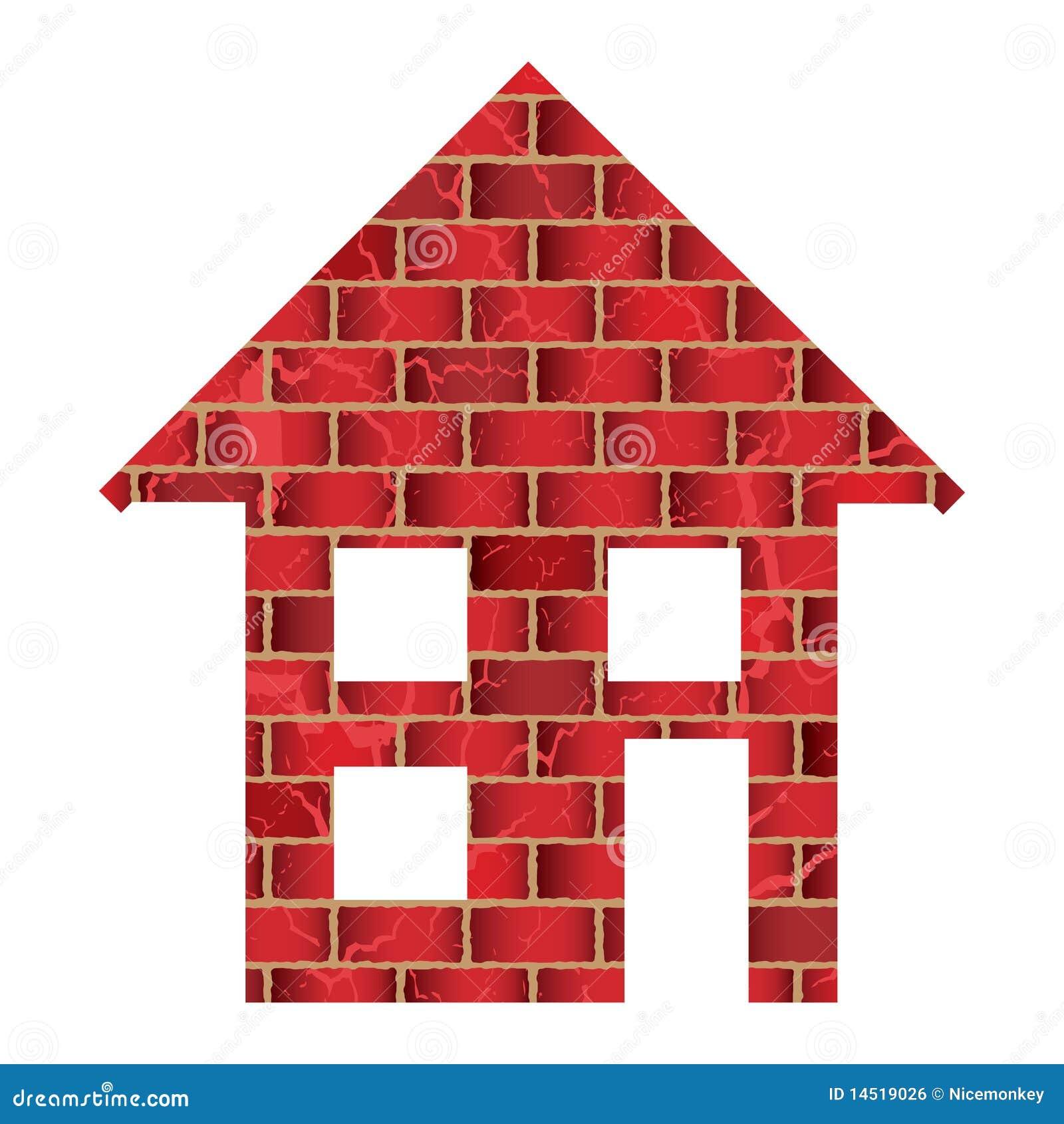 maison de brique rouge image libre de droits image 14519026. Black Bedroom Furniture Sets. Home Design Ideas