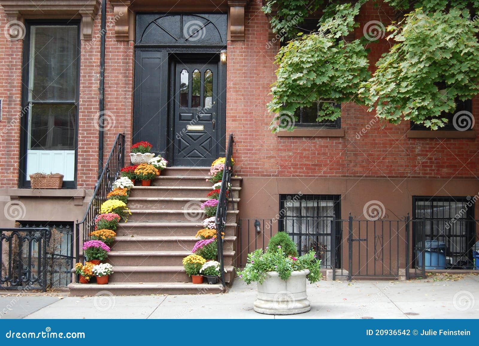 Maison de brooklyn photographie stock image 20936542 - Achat maison new york ...
