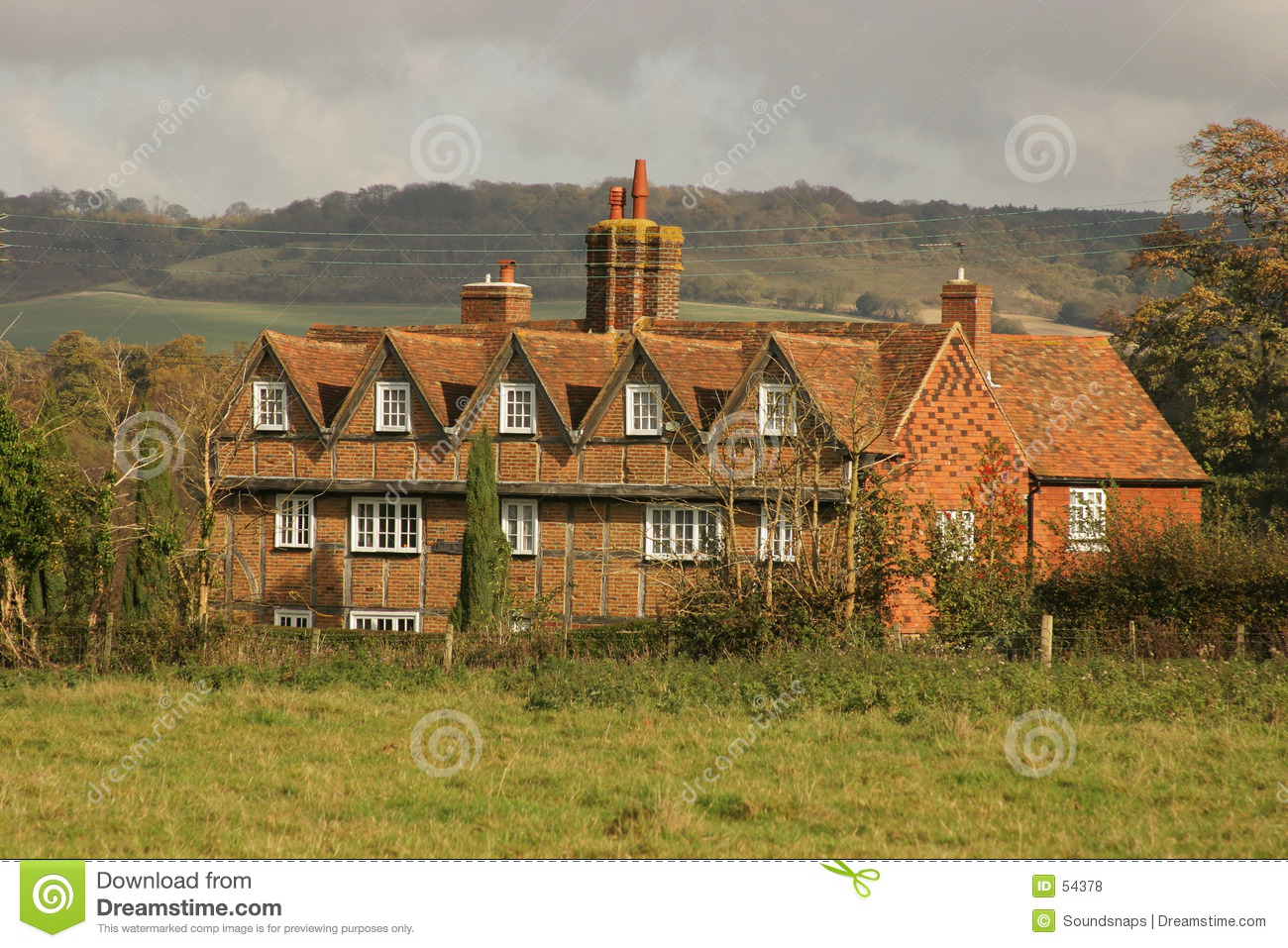 Maison de campagne anglaise photo stock image 54378 - Maison de campagne anglaise ...
