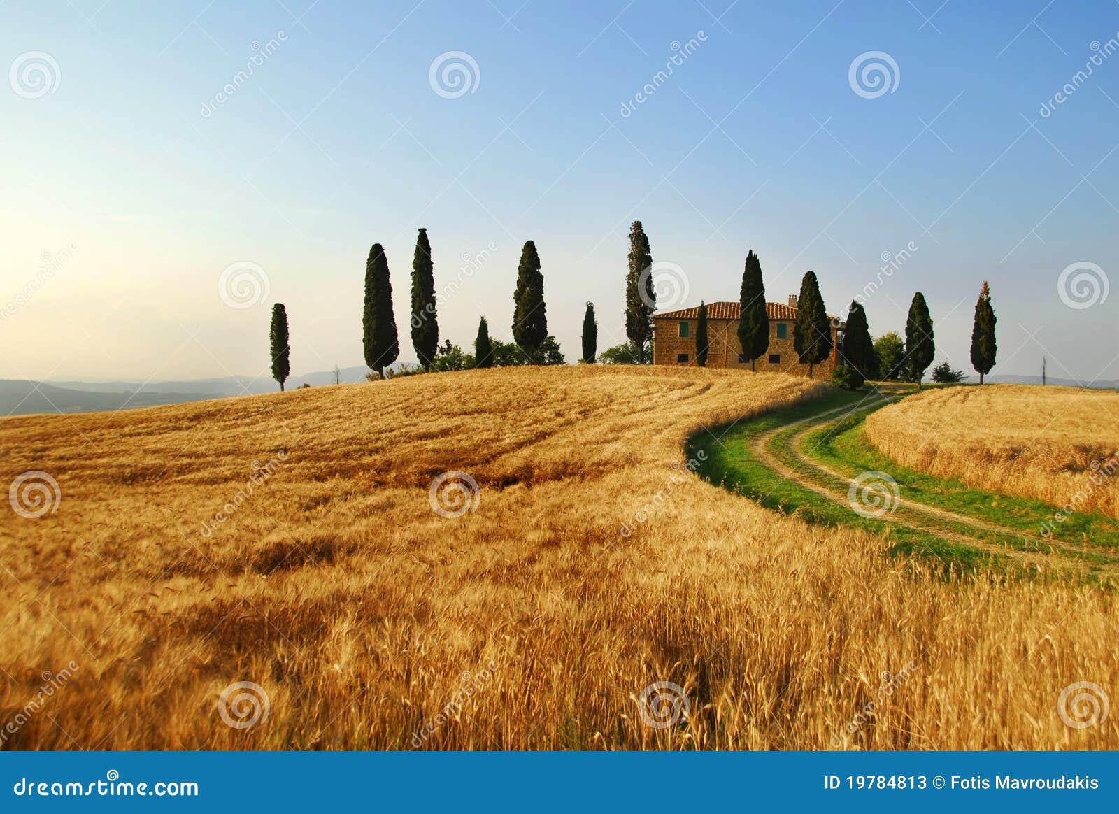 Maison de campagne de la toscane photos stock image for Disegni di case toscane