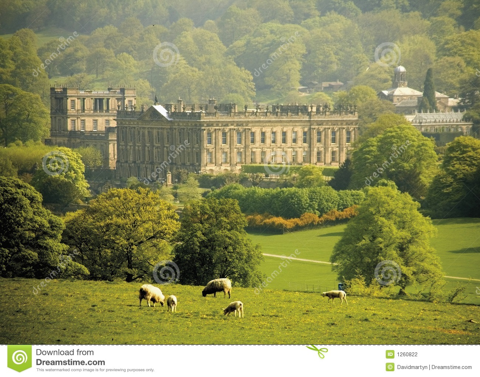 Maison De Chatsworth De L Angleterre Derbyshire