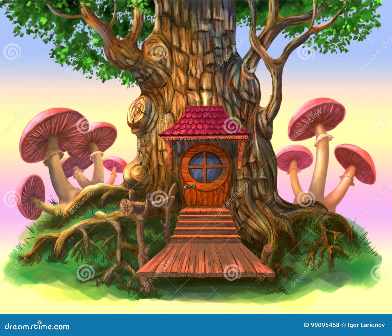 Maison de conte de fées dans l arbre