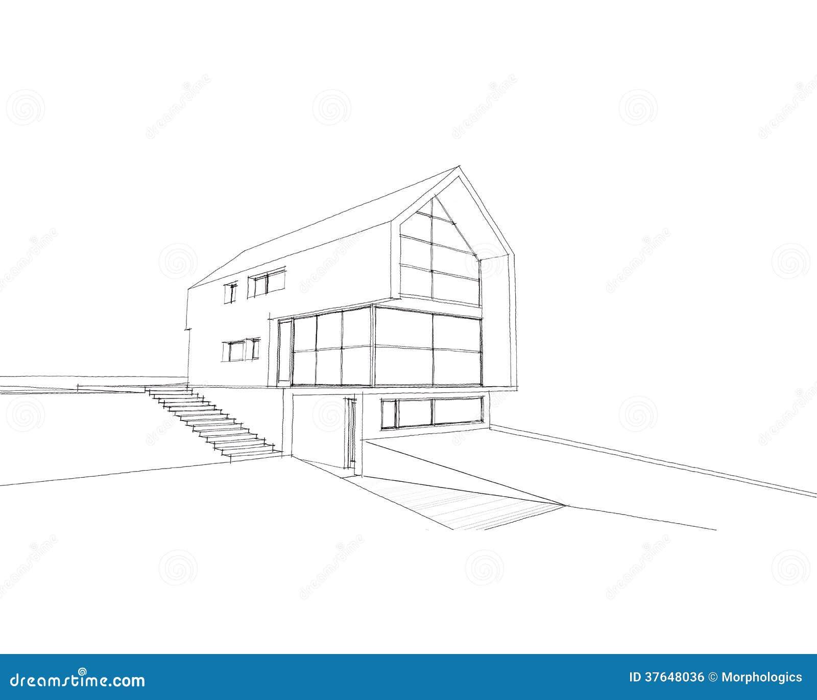 Maison de croquis photo stock image du professionnel for Croquis de maison plan de maison