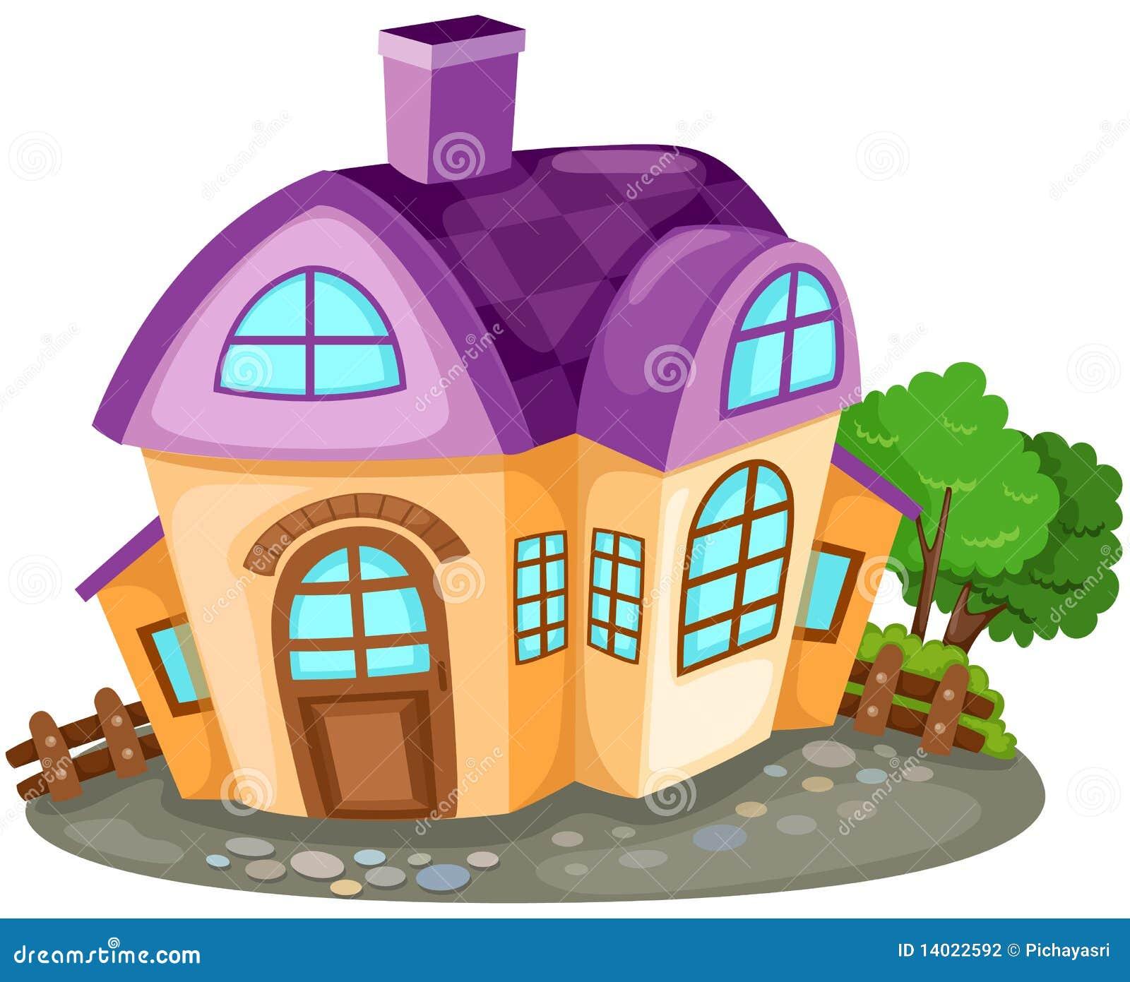 Maison de dessin anim photographie stock image 14022592 - Dessiner ma maison en ligne ...