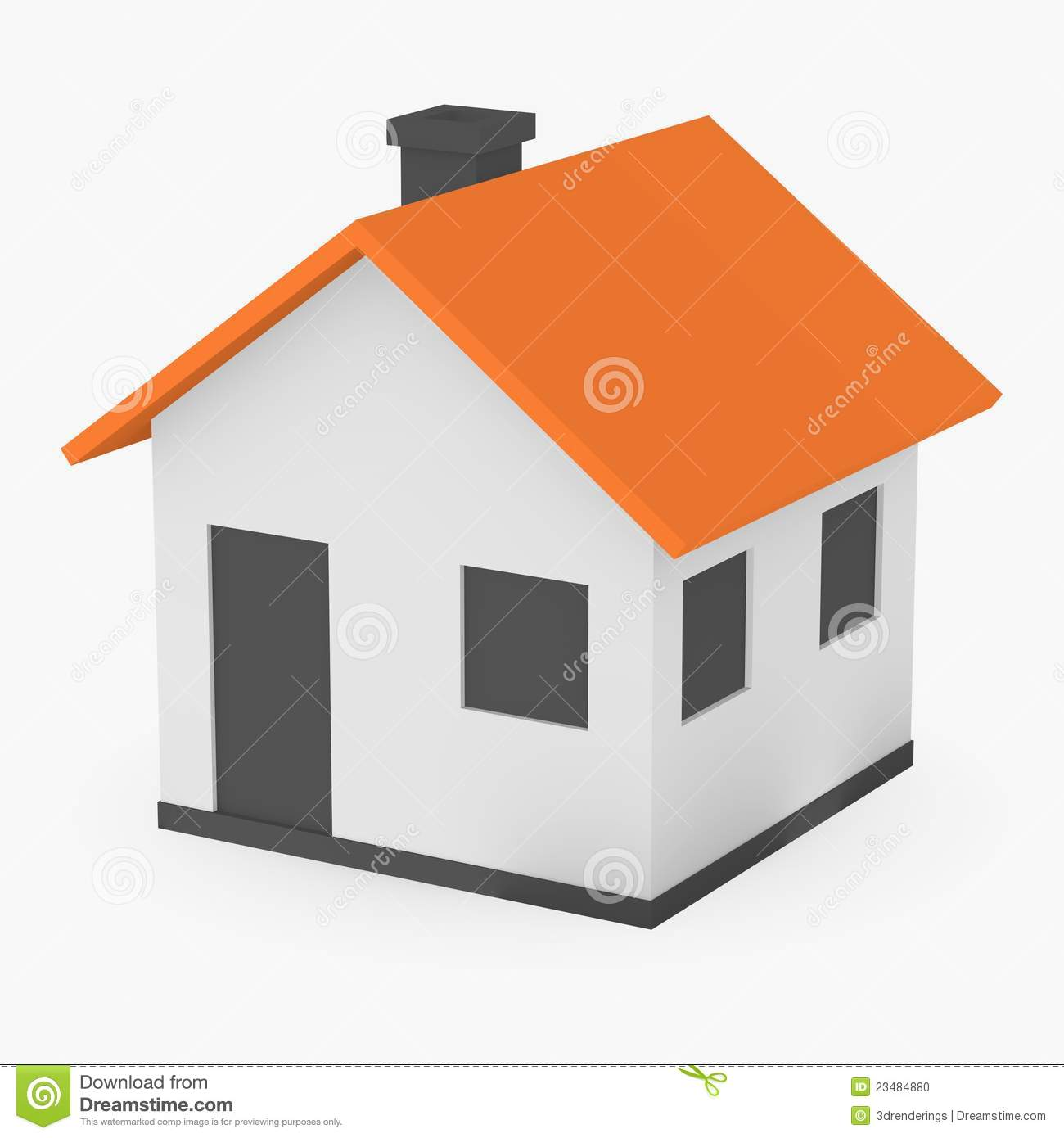 Maison de dessin anim illustration stock image du for Dessin de maison en 3d