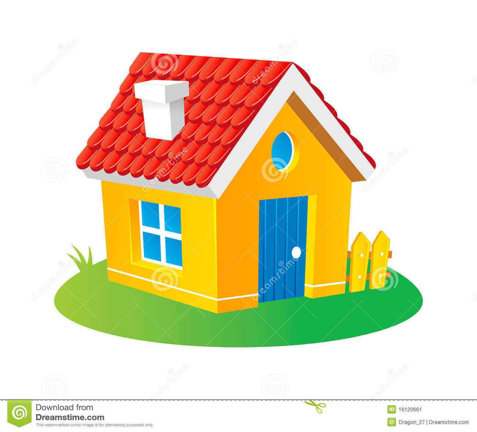 maison de dessin anim image stock image 16120661. Black Bedroom Furniture Sets. Home Design Ideas