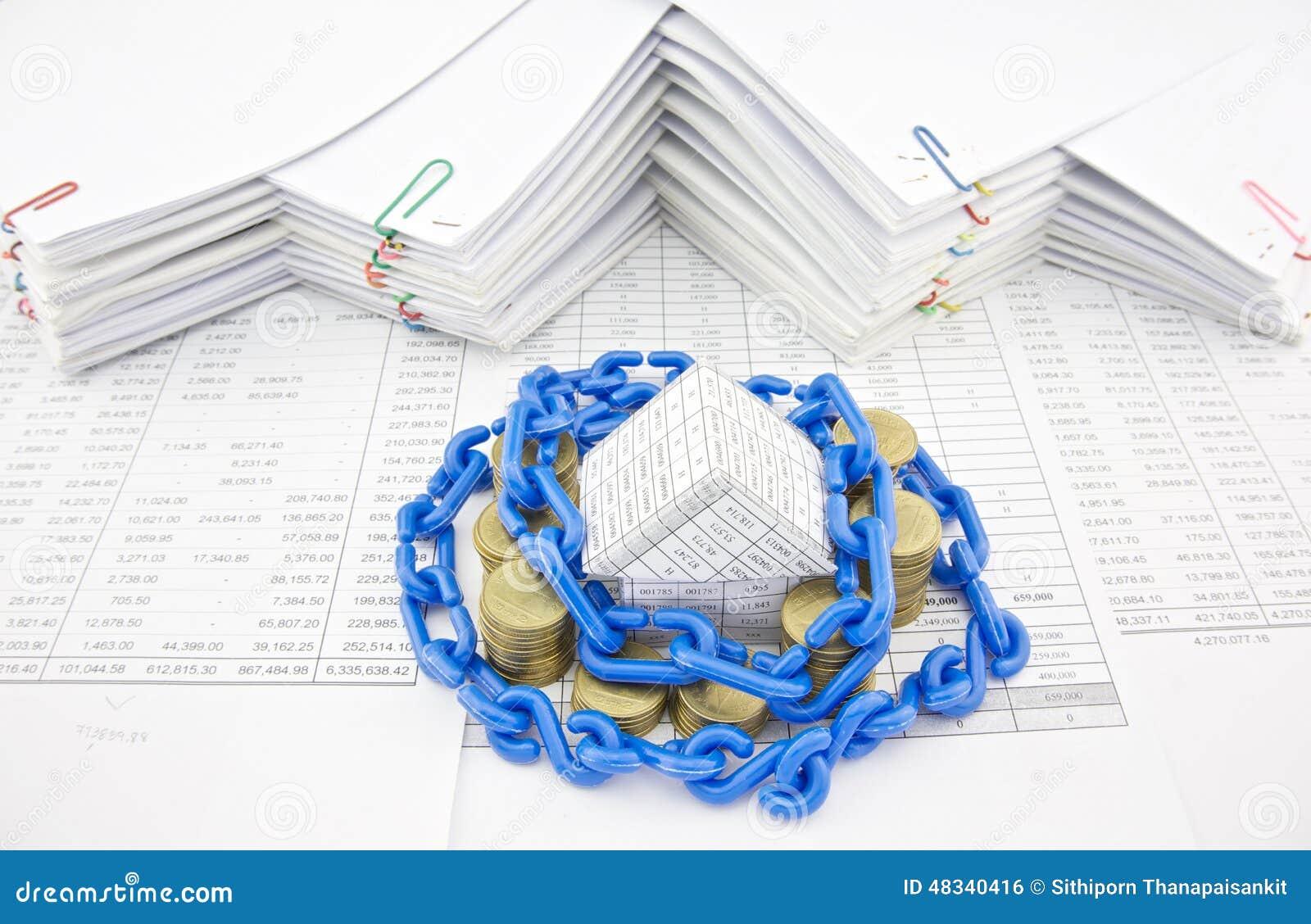 maison de dispositif d'accrochage et pile à chaînes en plastique