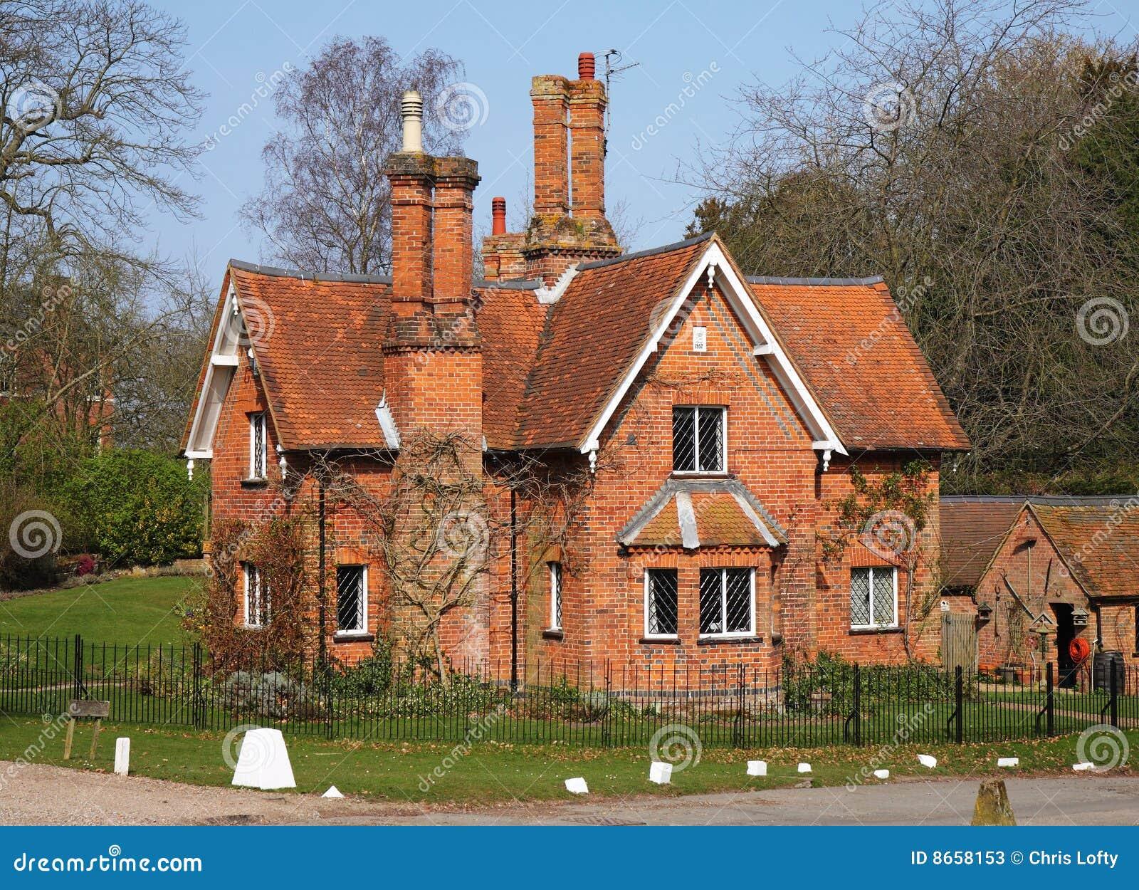 Maison de loge de l anglais de Traditioanl