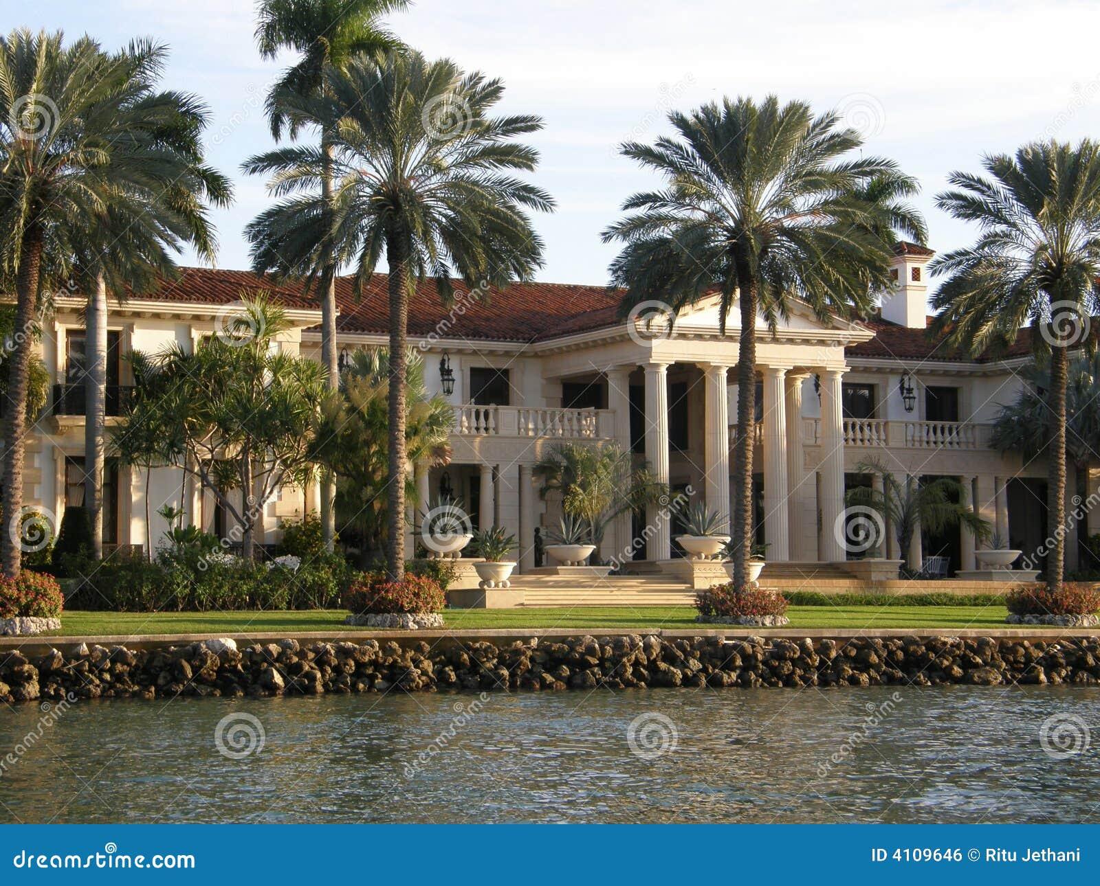 maison de luxe miami image libre de droits image 4109646