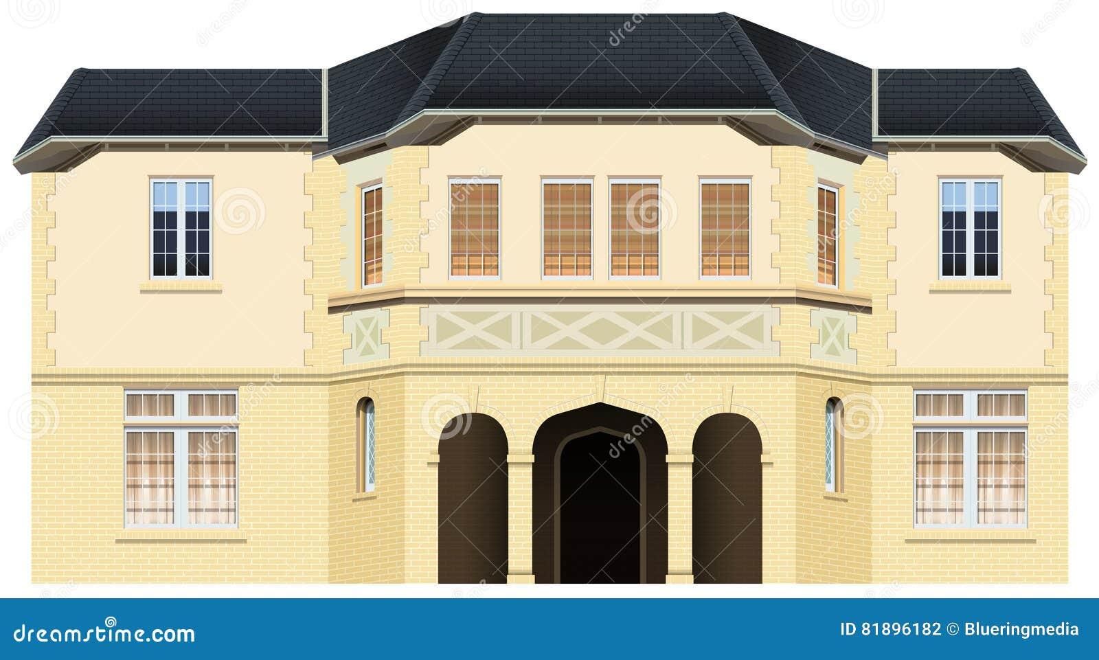 maison de luxe avec beaucoup de fen tres illustration de