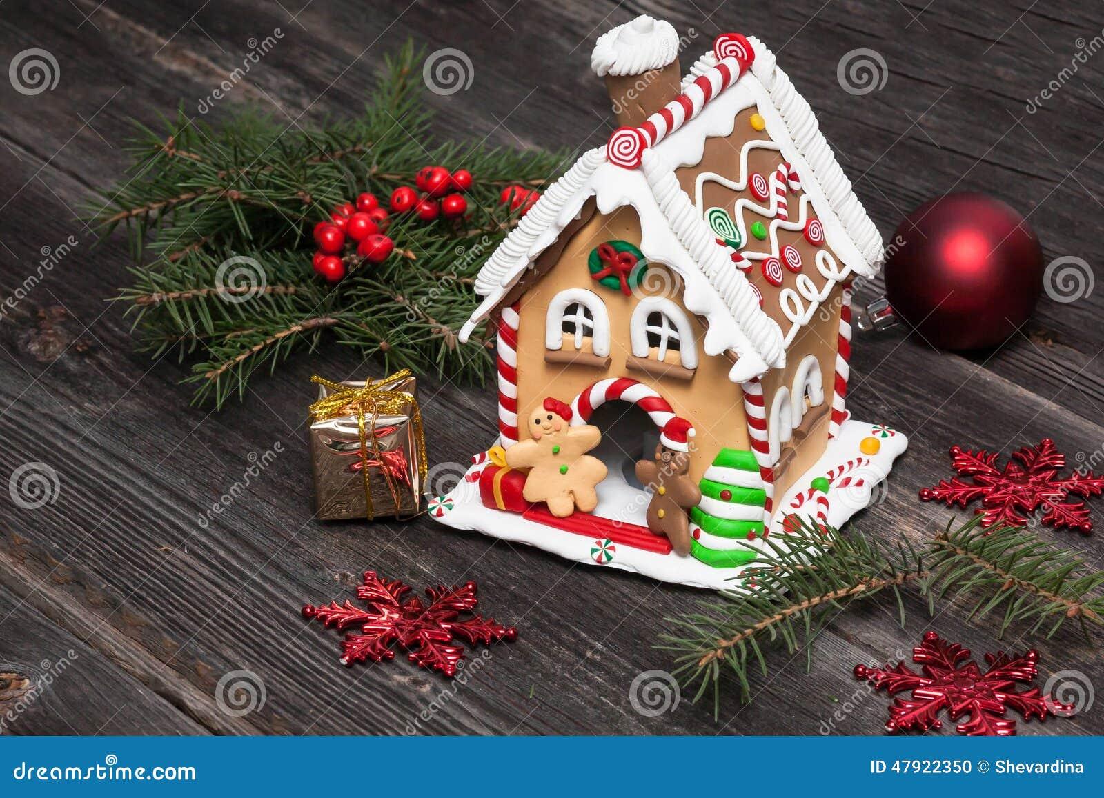 Maison de pain d 39 pice d coration de no l photo stock for Decoration de noel maison