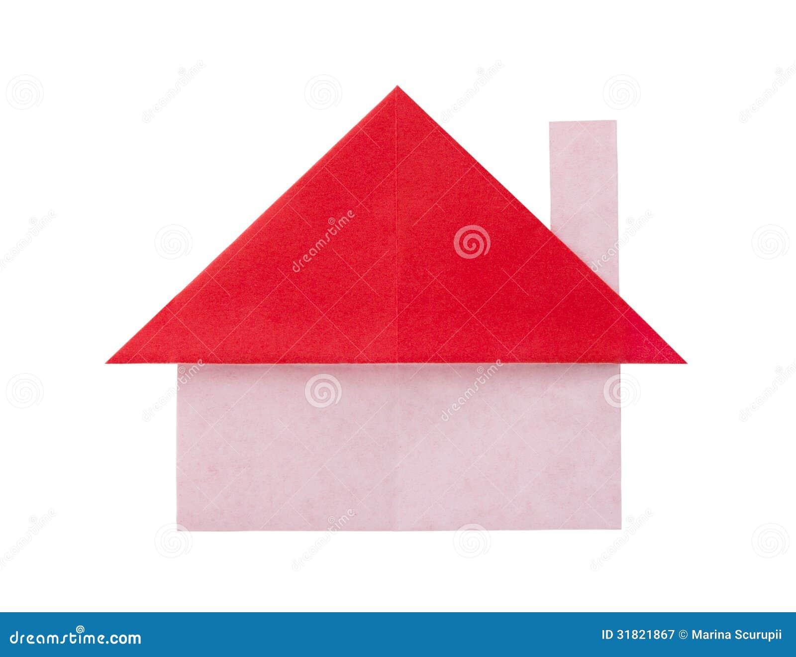 maison de papier d 39 origami photographie stock libre de. Black Bedroom Furniture Sets. Home Design Ideas