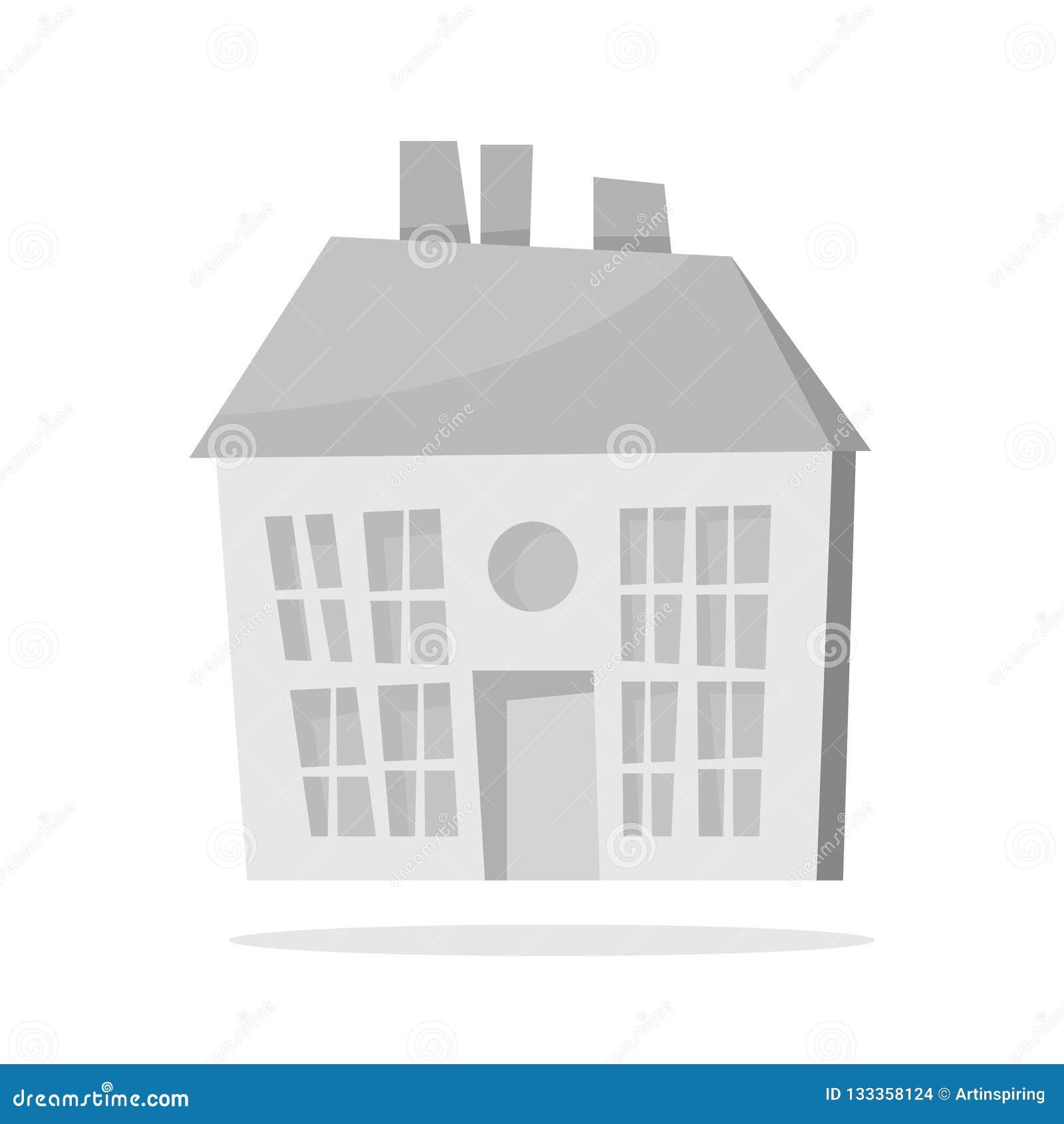 Maison de papier de Noël blanc Bâtiment mignon appartement