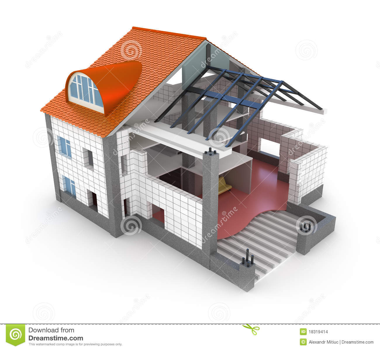 Maison de plan d 39 architecture images stock image 18319414 for Plans d architecture maison