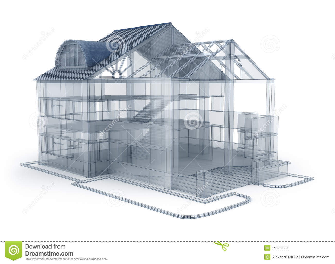 Maison de plan d 39 architecture illustration stock image for Architecture de plan libre