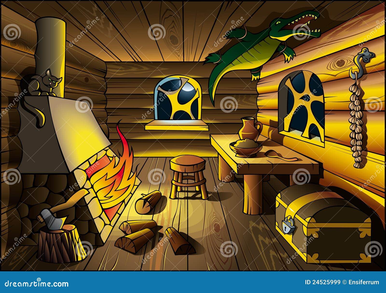 Maison de sorci re l 39 int rieur images libres de droits for A l interieur inside