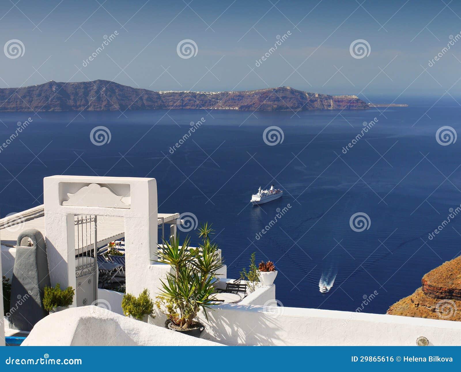 Voyage Magique D île De Santorini De Vue Photo Stock Image