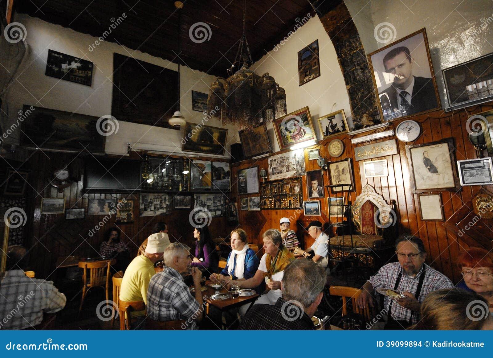 Maison de thé et boutique de tabac à Damas