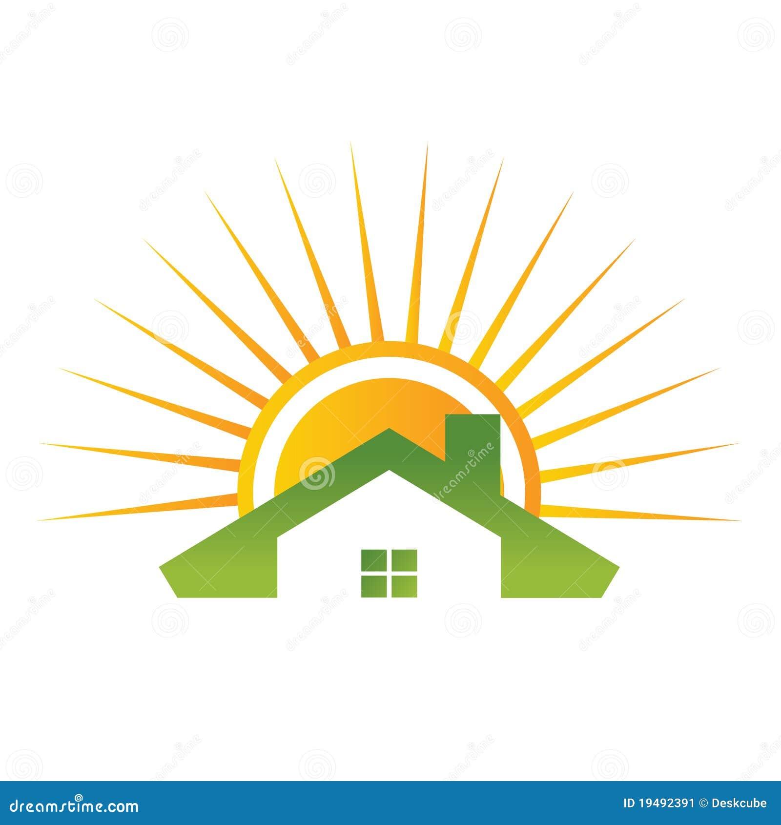 Maison De Toit Avec Le Soleil Image Stock Image 19492391