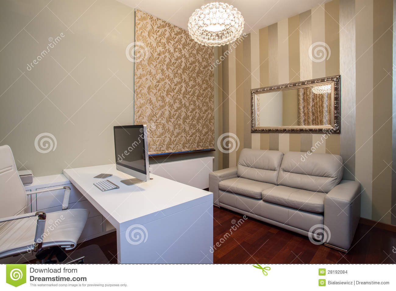 Maison de travertin home office moderne photo stock image du