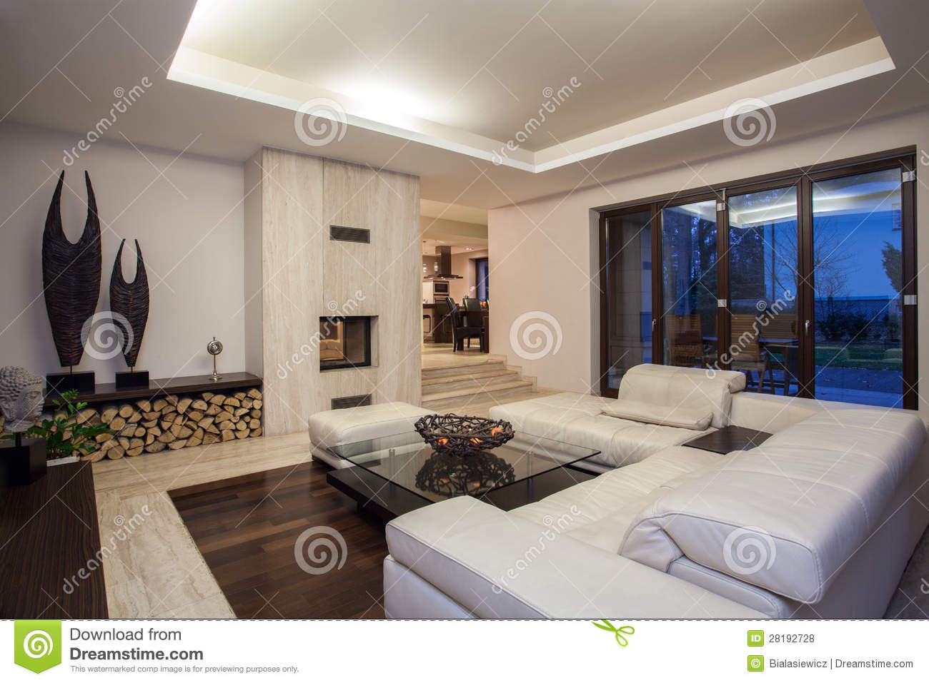 maison de travertin salon luxueux photo stock image 28192728