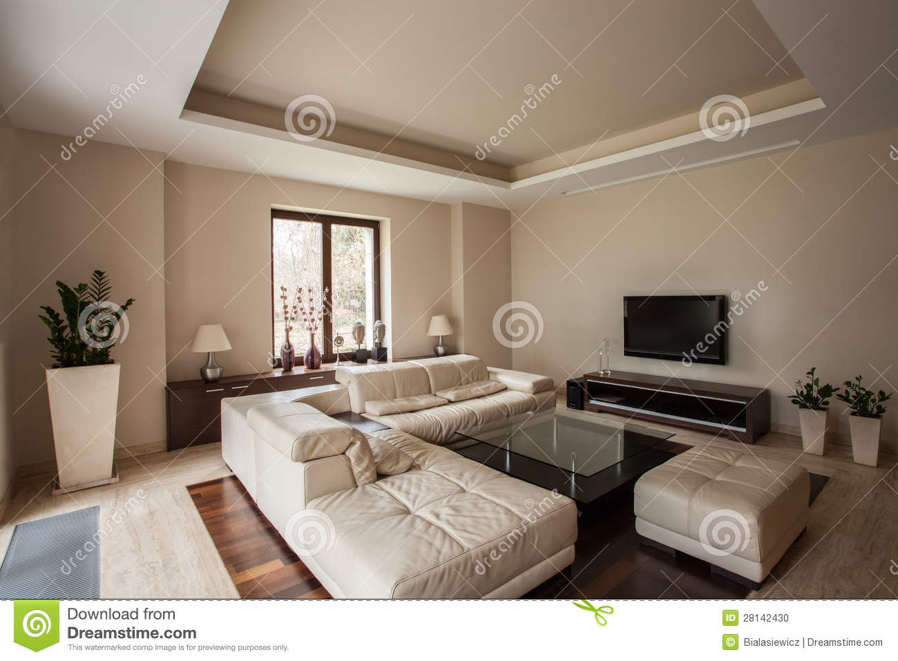 Maison de travertin salon moderne photo stock image - Salon de maison moderne ...