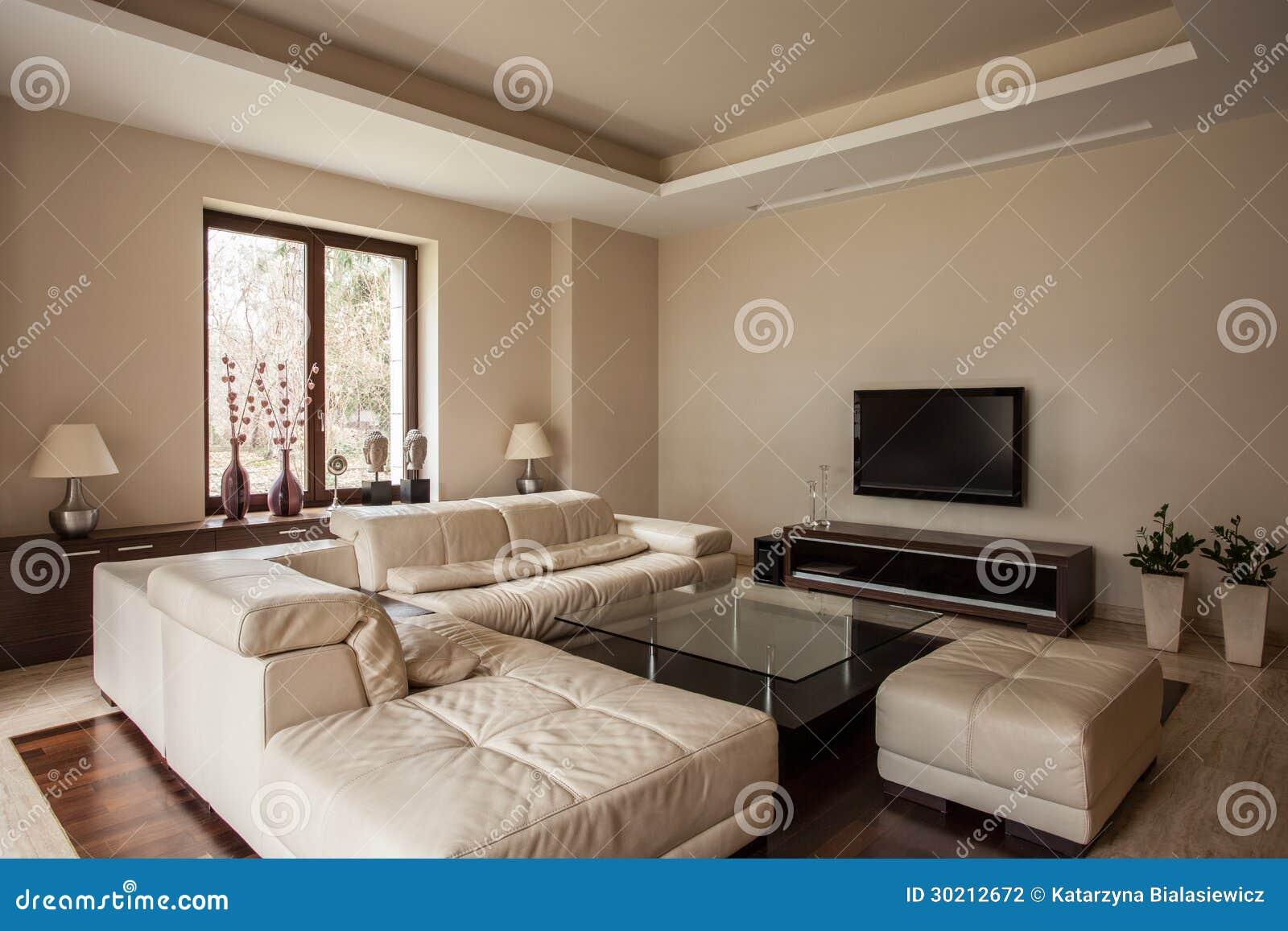 maison de travertin salon avec le sofa photographie stock image 30212672. Black Bedroom Furniture Sets. Home Design Ideas