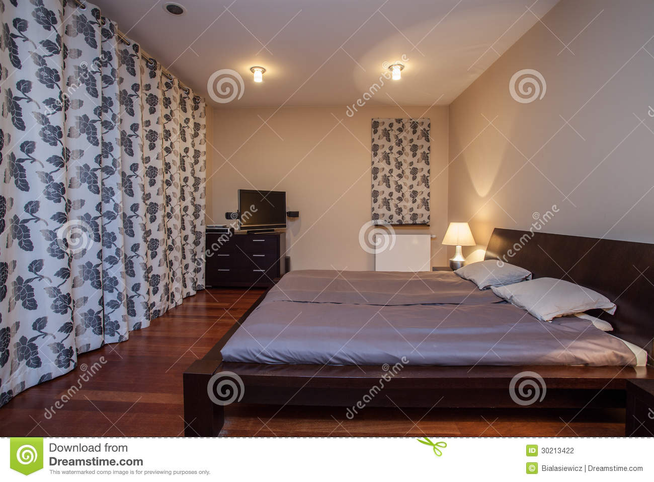 Maison de travertin chambre coucher luxueuse for Photo de chambre a coucher