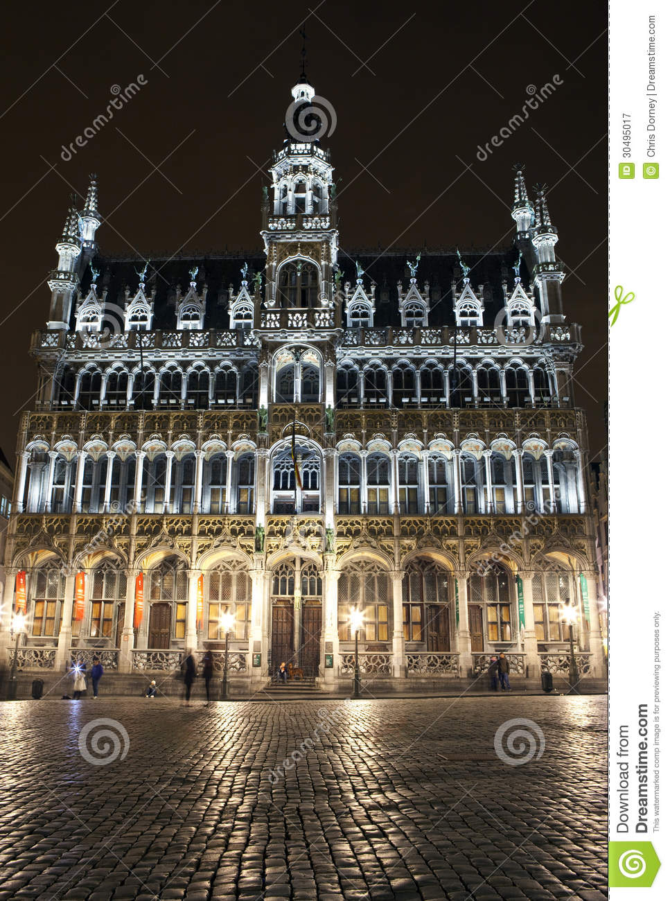 maison du roi king 39 s house in grand place brussels royalty free stock photography image. Black Bedroom Furniture Sets. Home Design Ideas