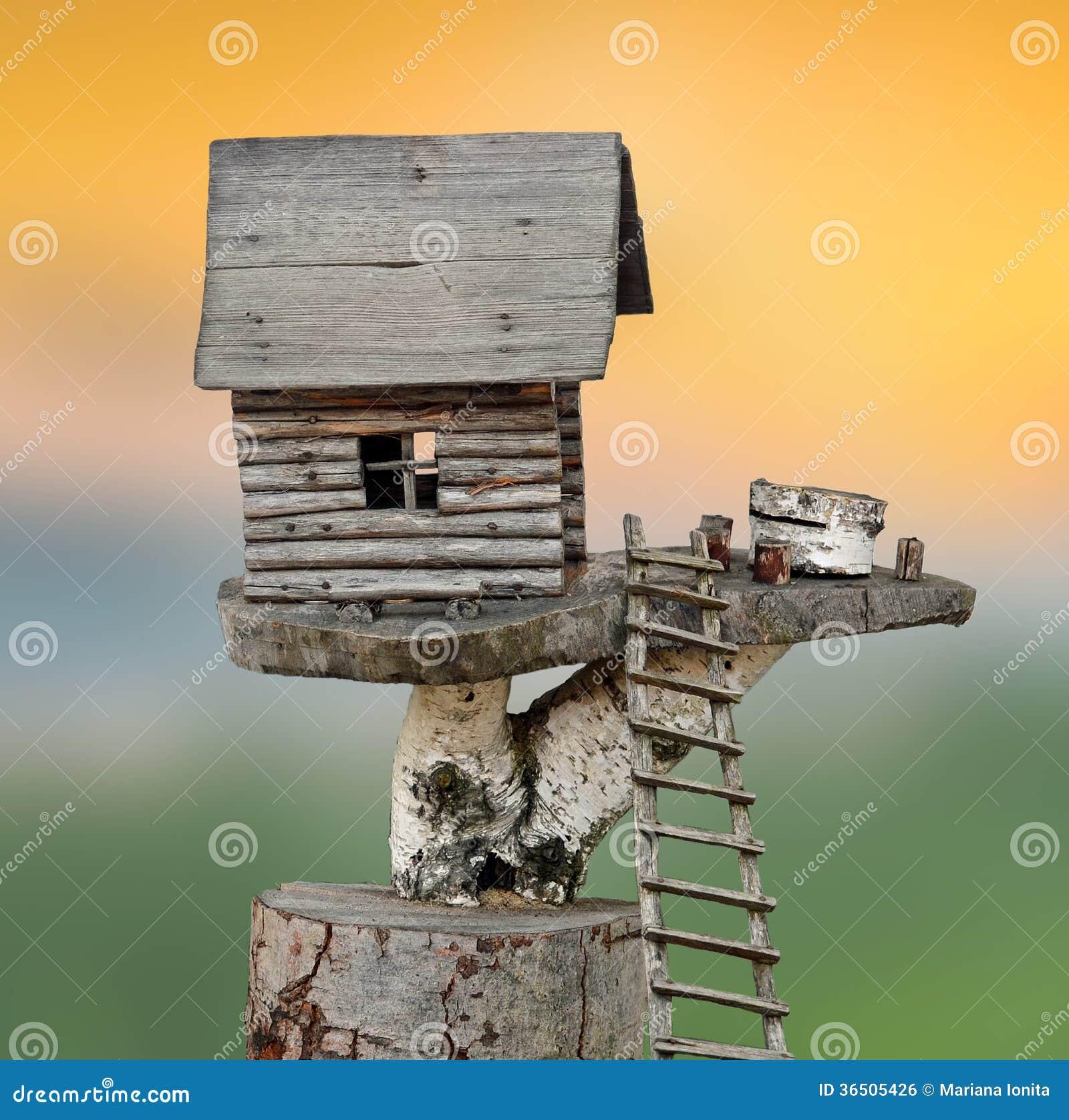 Maison en bois miniature