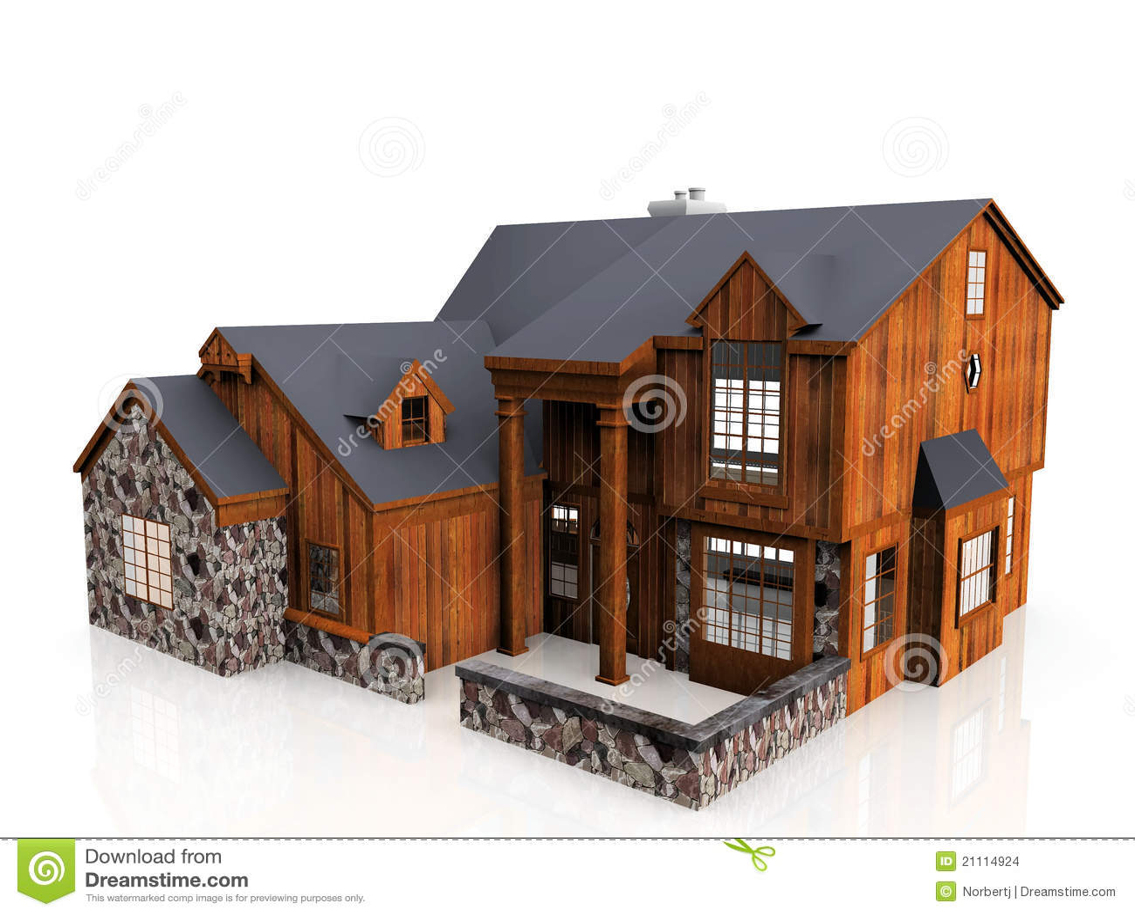 Maison En Pierre Et En Bois Images Stock Image 21114924