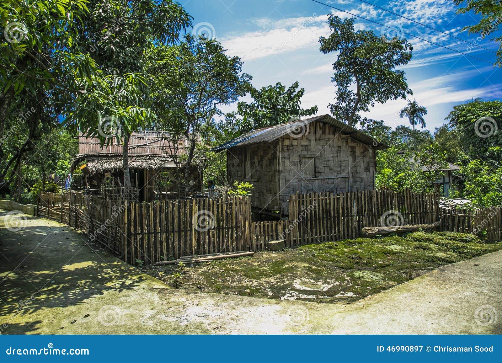 Maison est du nord de village d Inde