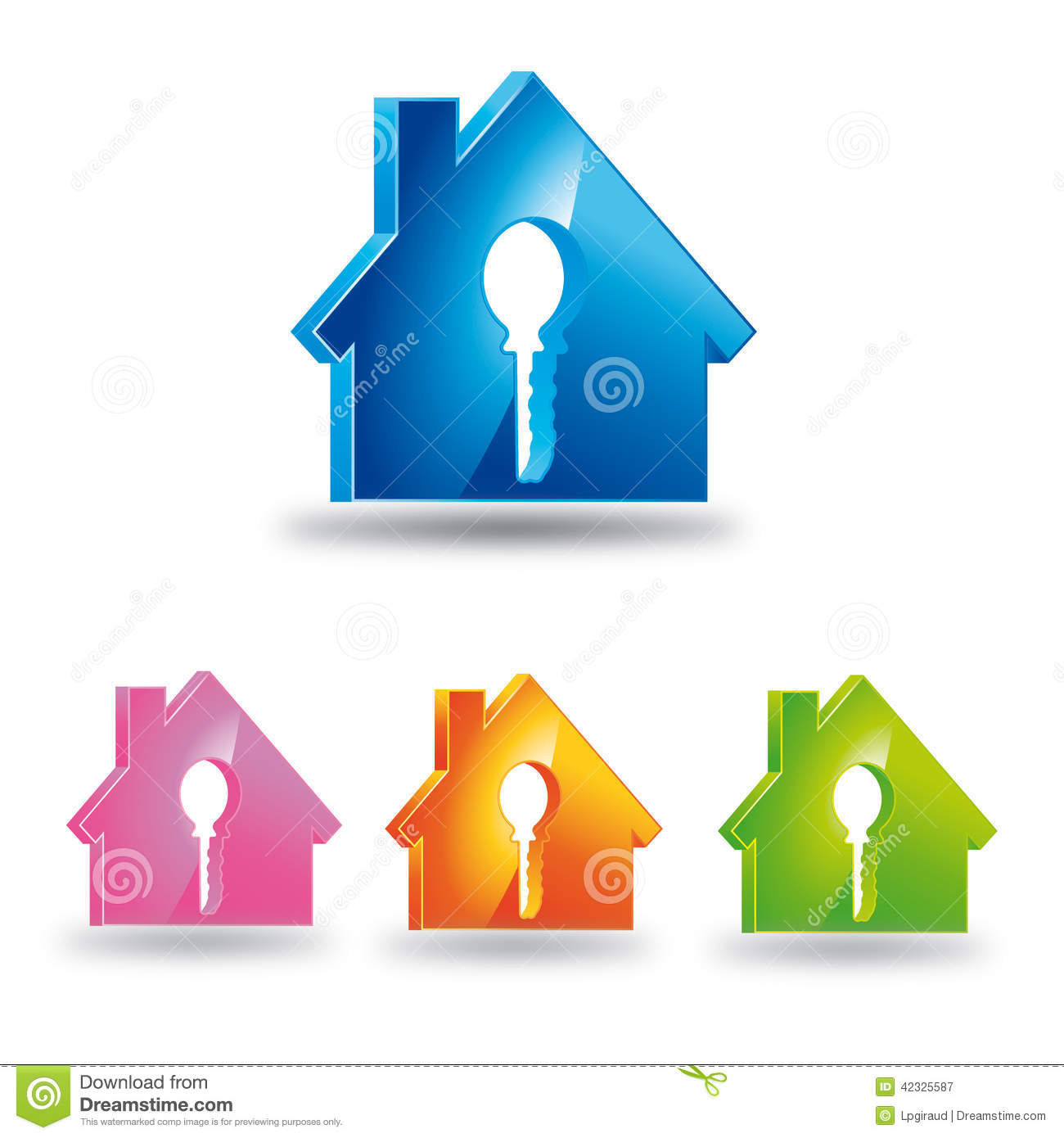 Maison et cl de logo illustration stock image 42325587 for La cle de la maison
