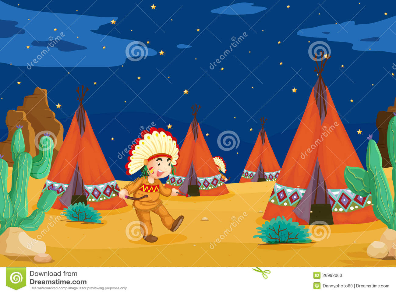 Maison et gosse de tente