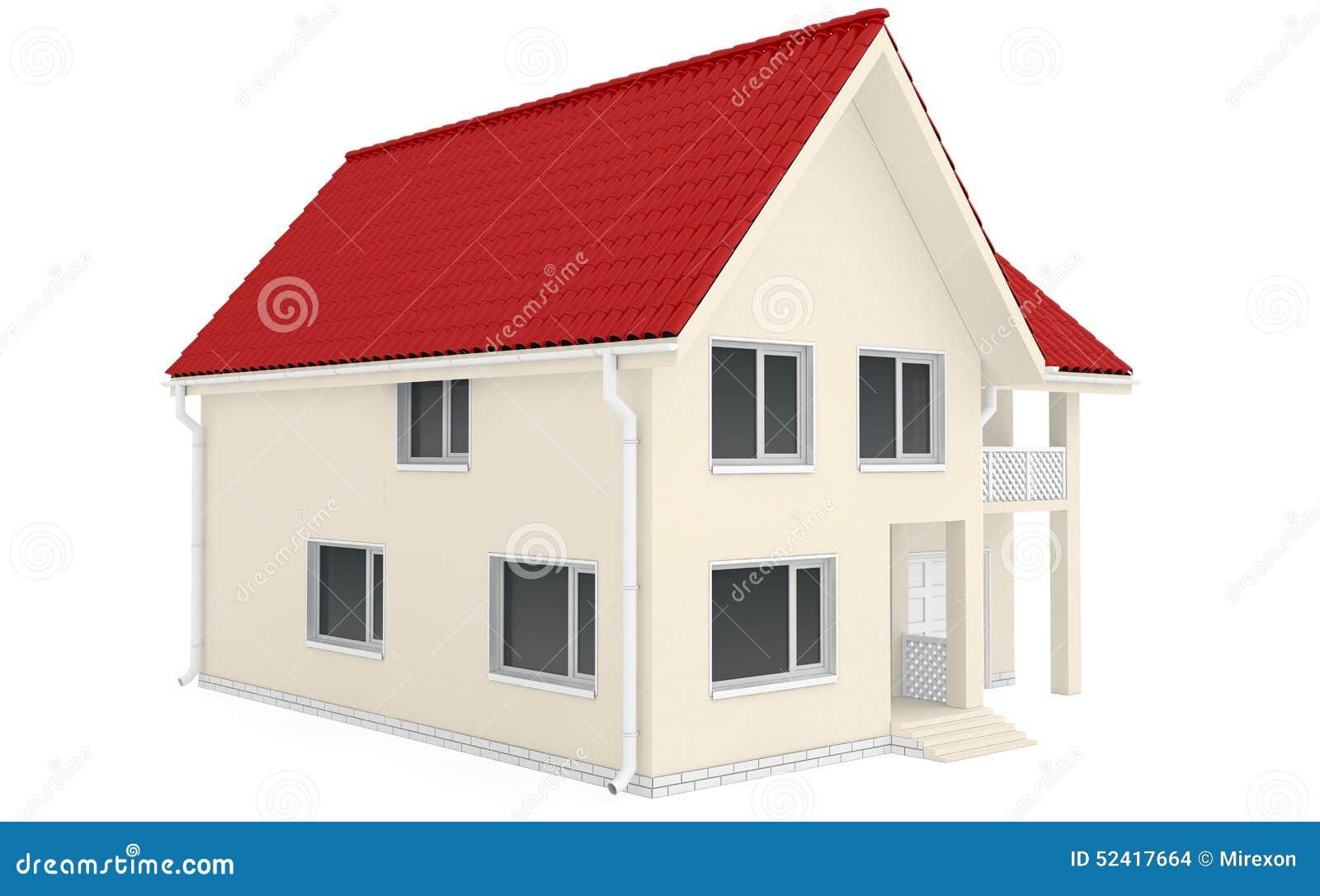 Maison ext rieure avec le porche illustration stock for Maison avec porche