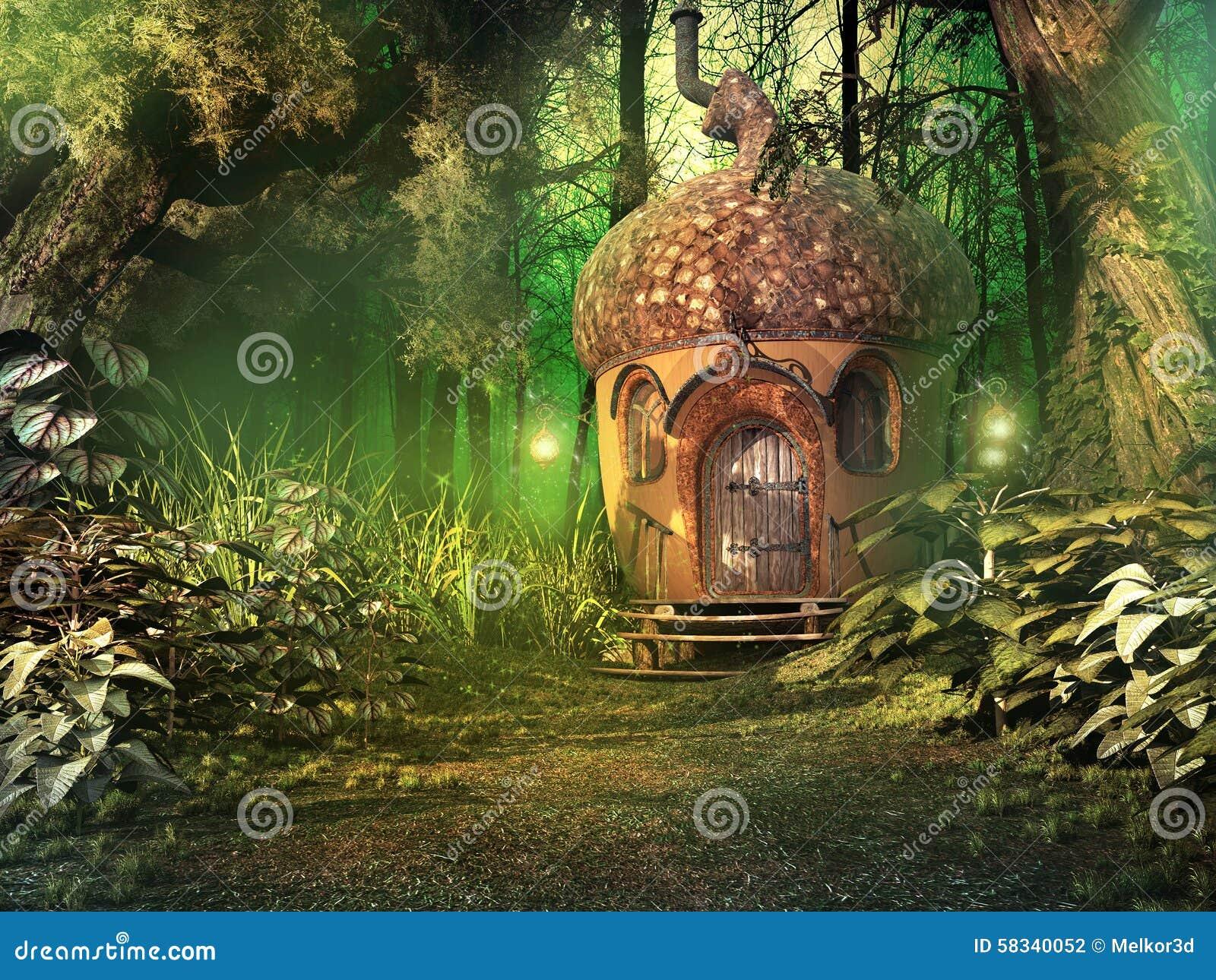 Rustic Log House Plans Maison F 233 Erique Dans La For 234 T Profonde Illustration Stock