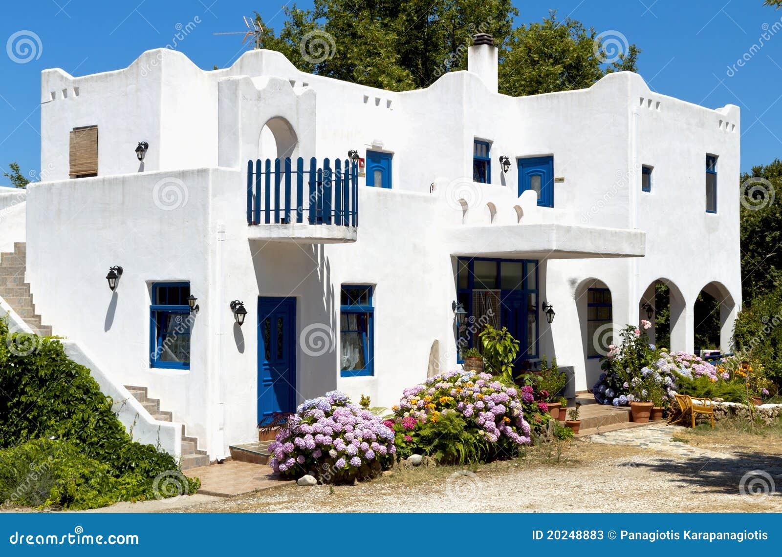 maison grecque traditionnelle l 39 le de samothraki image On maison traditionnelle grecque