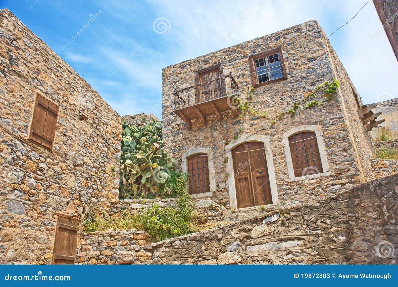 Maison historique pour des lépreux sur l île de Spinalonga.