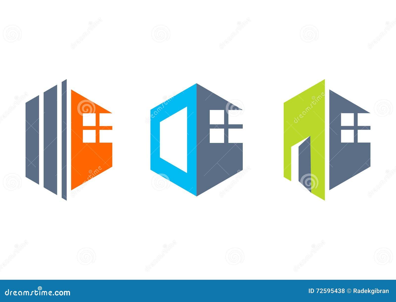 Favori Maison, Immobiliers, Maison, Logo, Icônes De Bâtiment De  RN69