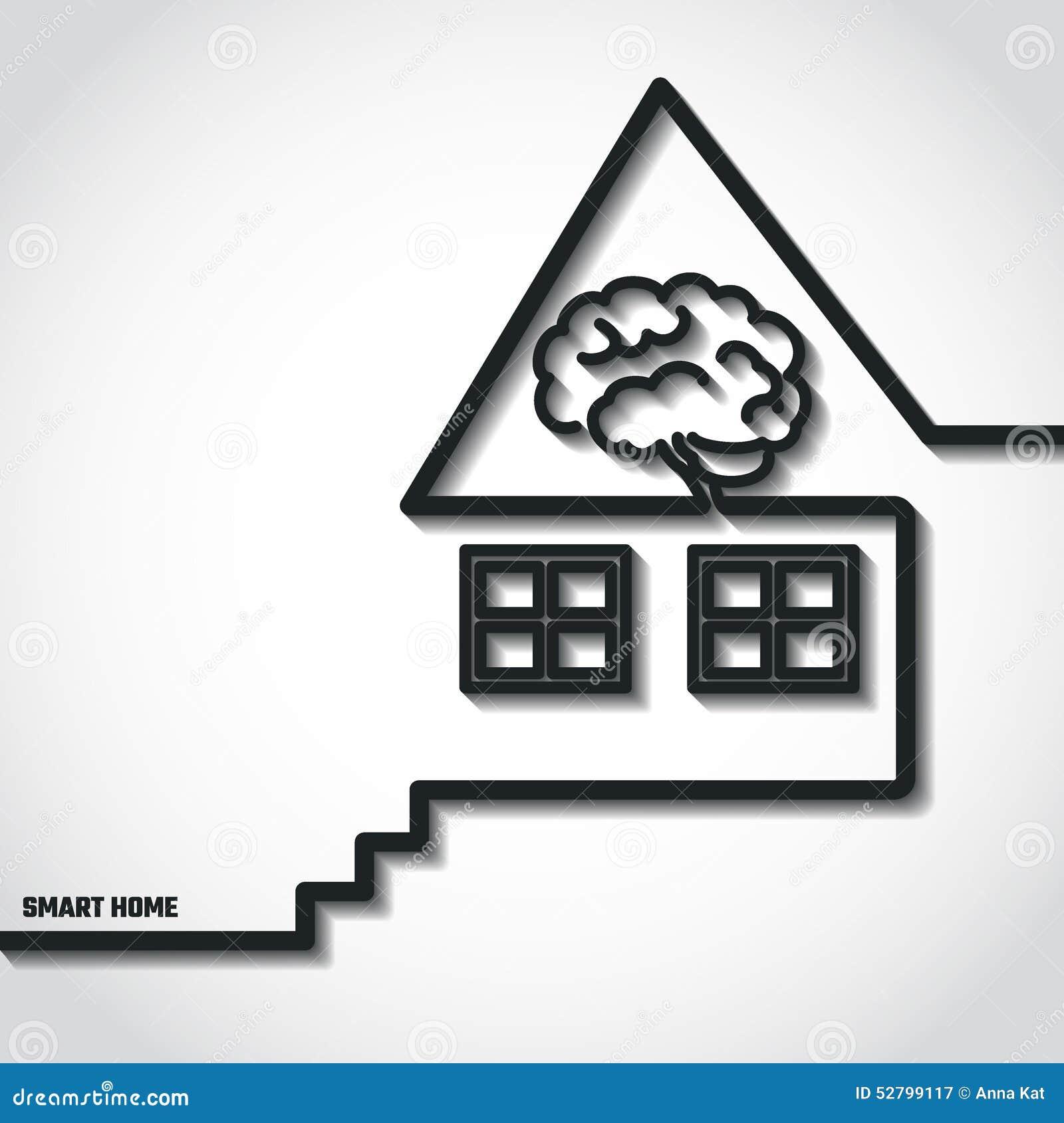 maison intelligente illustration stock image 52799117. Black Bedroom Furniture Sets. Home Design Ideas