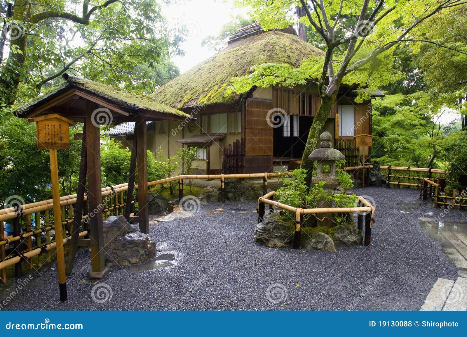 maison japonaise photo stock image du jardinage beaut 19130088. Black Bedroom Furniture Sets. Home Design Ideas