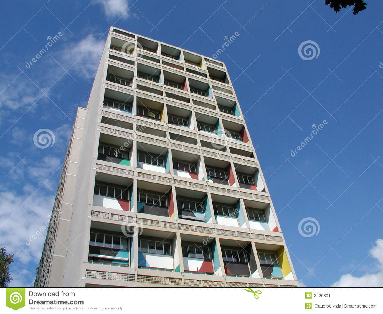 Maison le corbusier unit d 39 habitation berlin stockbild for Familienhaus berlin