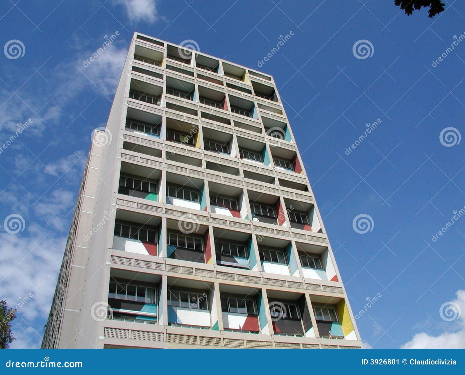 Maison le corbusier unit d 39 habitation berlin stock for Plan maison d habitation