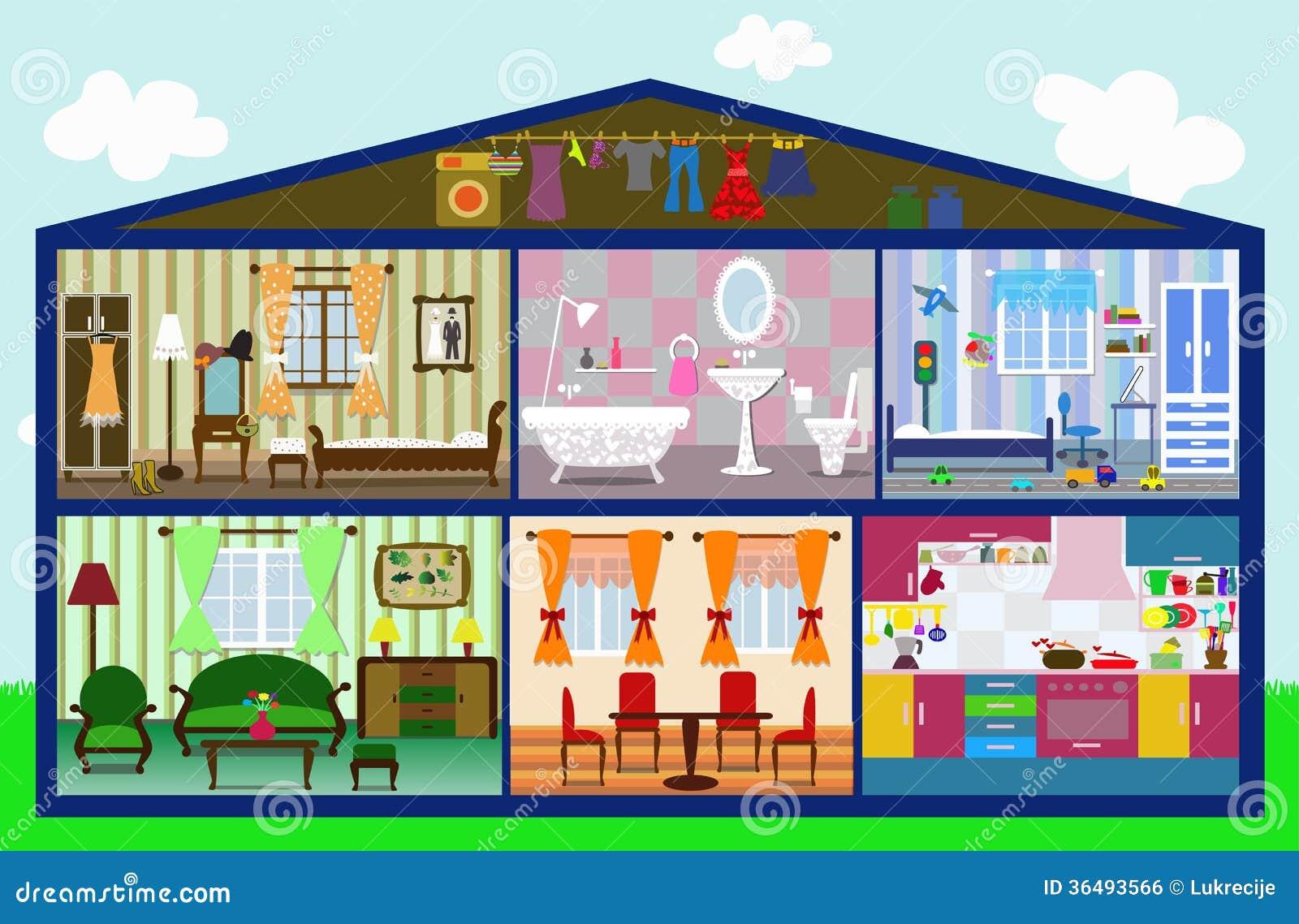 Maison mignonne dans une coupe illustration image libre for La maison du cabriolet