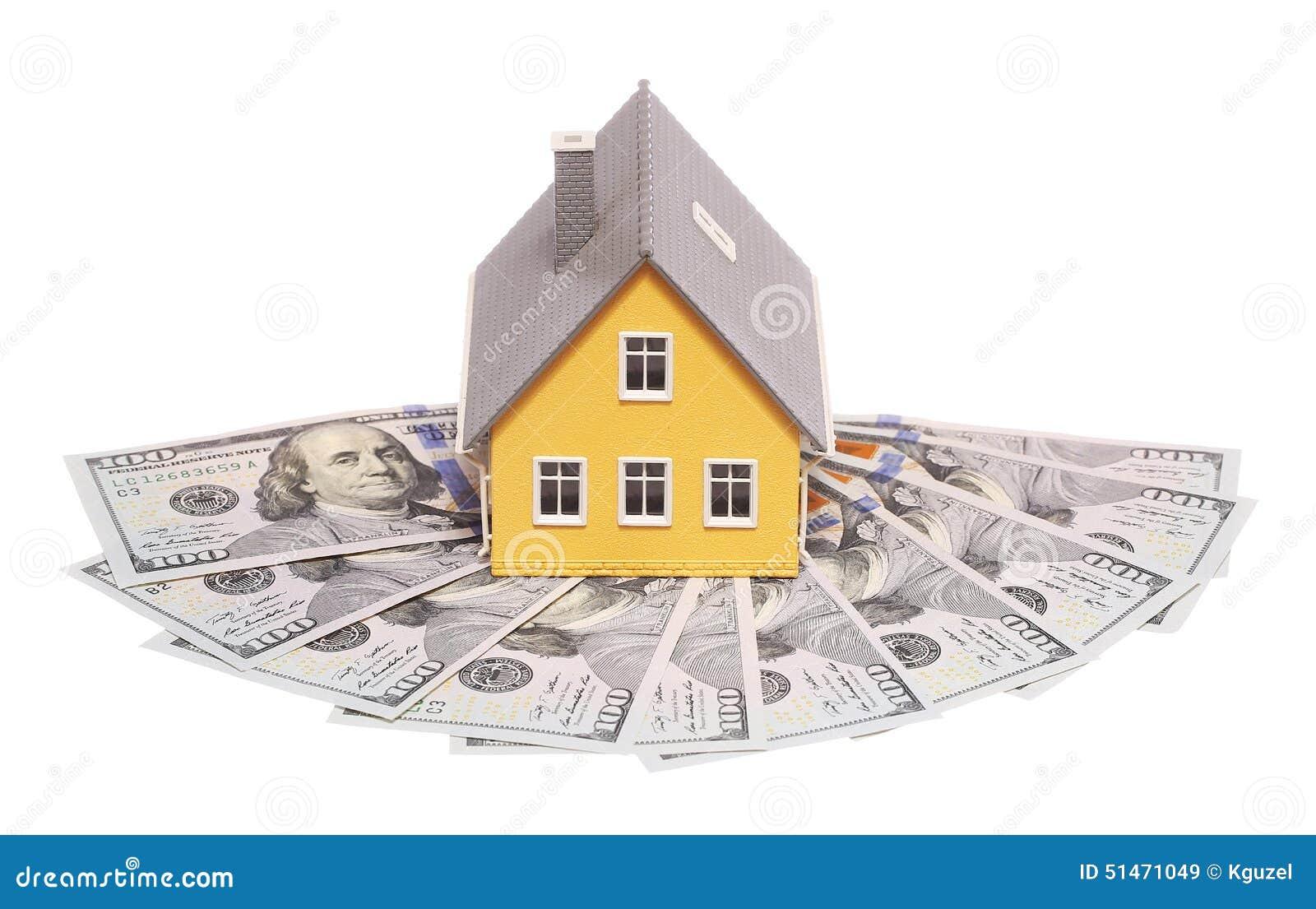 Maison minuscule et argent d isolement hypothèque